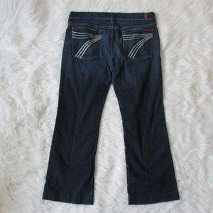 7 For All Mankind Dojo Jeans Wide Leg Flare sz 32